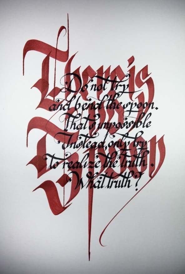 There Is No Spoon - By Francesco Guerrera #calligraphy #drawn #lettering #hand