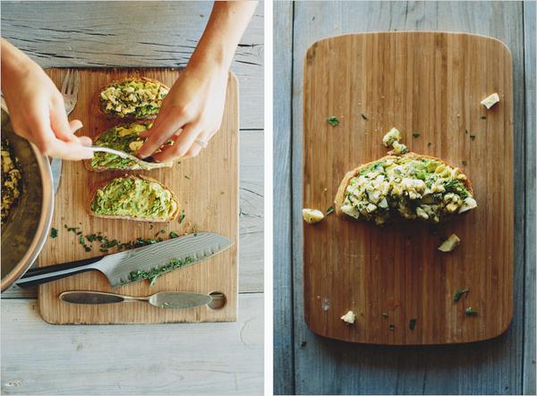 Avocado Tartine with Girbiche Egg Salad . sprouted kitchen #food