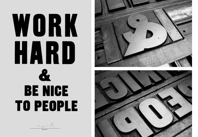 Self-published simple typographic statement poster, printed using traditional woodblock techniques.Photographs courtesy of Kim Tran, Amit Gu #typography
