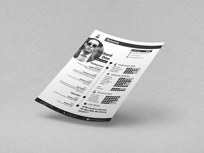 Free Cool Resume Template with Cover Letter and Portfolio
