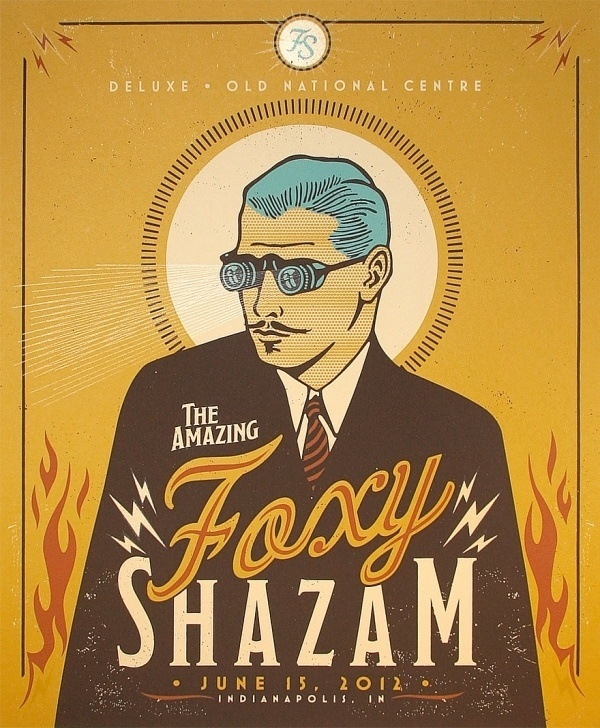 Foxy Shazam Gig Poster « RONLEWHORN #punk #carnival #scientist #gig #print #steam #screen #illustration #poster