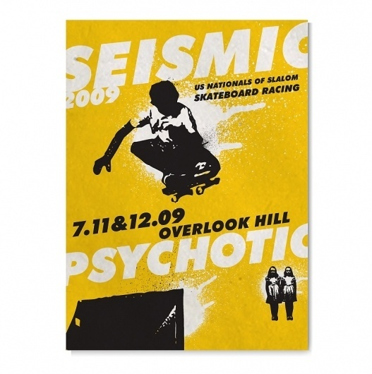 US Skateboarding Nationals Event Graphics by VOLTAGE : Advertising & Design #yellow #skateboarding #poster