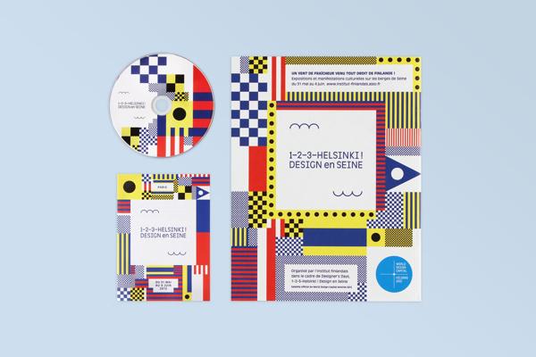 1–2–3–Helsinki ! Design en Seine on Behance #flat #abstract #pattern #branding #simple #colorful #identity #helsinki #good