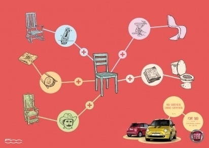 I Believe in Advertising | ONLY SELECTED ADVERTISING | Advertising Blog & Community » Fiat 500: Bed, Apple, Heart, Horse, Chair #advertising