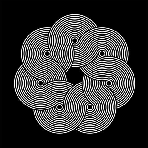pattern experiment on the Behance Network #flow #pattern #absract #geometric #bw