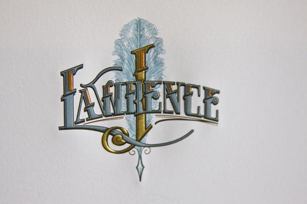 John M. Lawrence #engraving #type #lettering