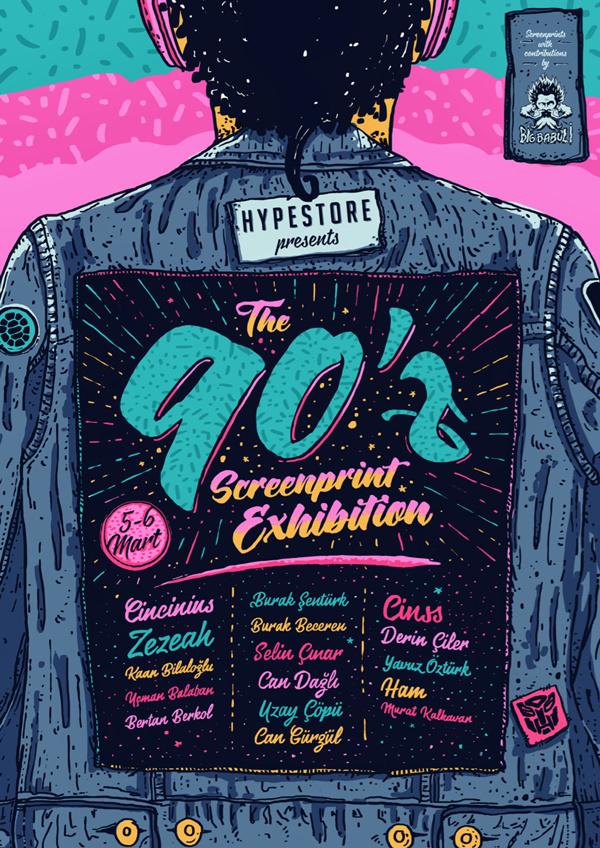 90'z Screenprint Exhibition
