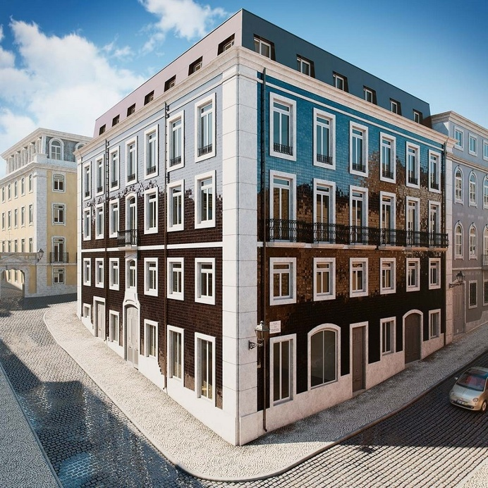 Architectural Rendering of Apartments in Lisbon / Berga and Gonzalez Architects