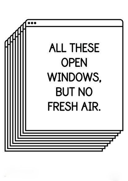 All these open windows, but no fresh air. - Author Unknown #inspiration #quotes