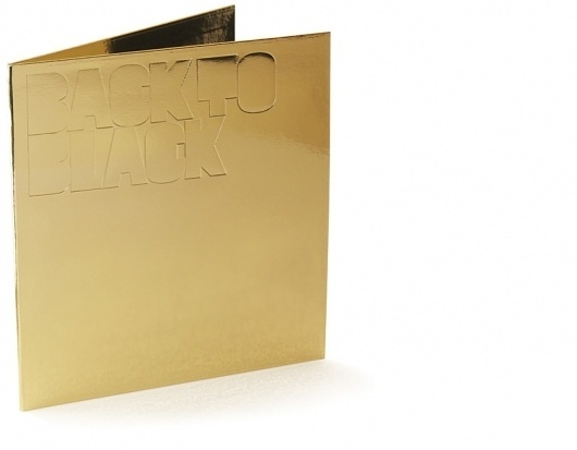 Non-Format - Back To Black #emboss #non #packaging #format #print #sleeve #black #cover #back #gold #music #to