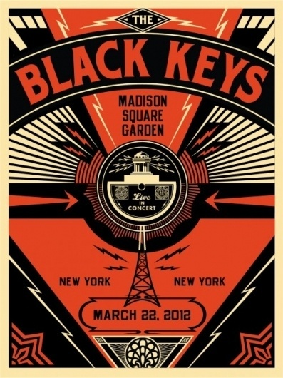 Black Keys Live - OBEY GIANT #conciert #print #obey #poster