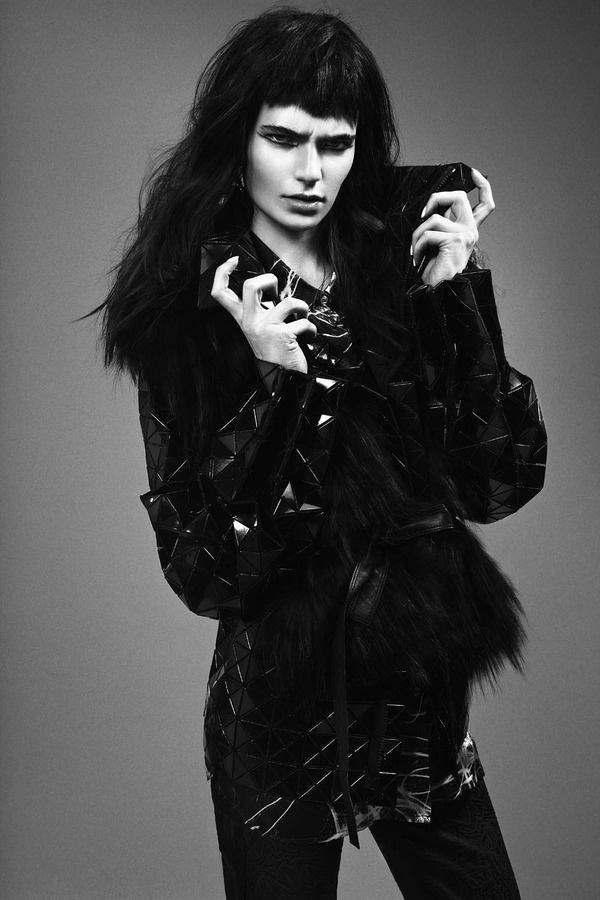 Nouk Torsing by Djamel Boucly in 'Fierce Creature' for FGR (7) #fashion #woman #black