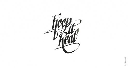 Keep it real 2 - Logos - Creattica #logo