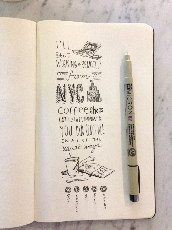 handrawn type by B #computer #ink #drawn #pen #made #notebook #hand #typography