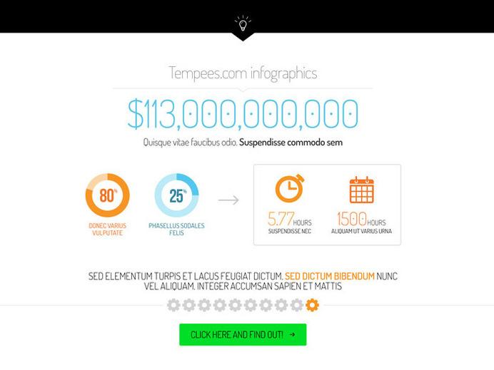 Fresh Infographic Element PSD