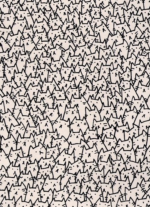 kitten pattern #illustration #pattern #cats #kitten
