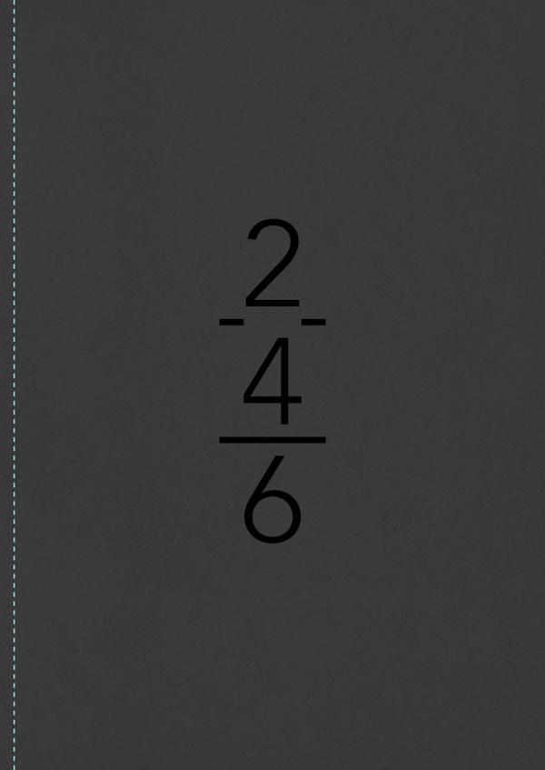 NotOnSunday. #numbers #stitching #typography