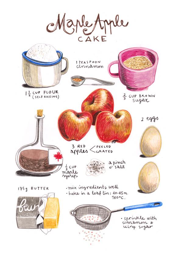 illustrated recipes felicita sala #illustration