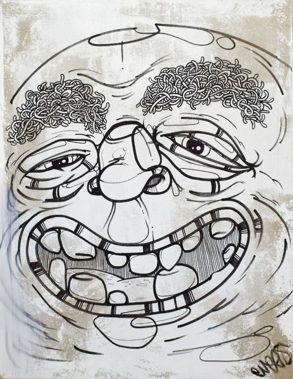Smiley Wallery #thomas #painting #art #face #character #evers