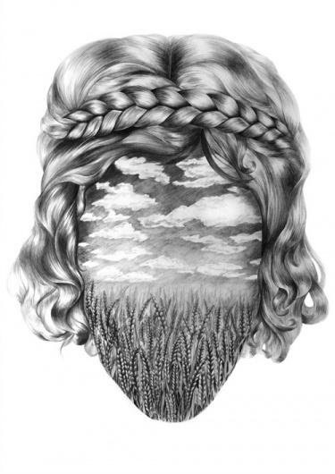 Eibatova Karina - BOOOOOOOM! - CREATE * INSPIRE * COMMUNITY * ART * DESIGN * MUSIC * FILM * PHOTO * PROJECTS #karina #portrait #braid #eibatova #art #drawing