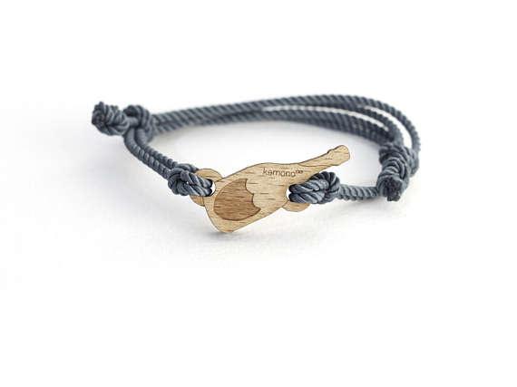 Dompero Kemono #bracelet / #wristlet #champagne - #wood edition #jewel