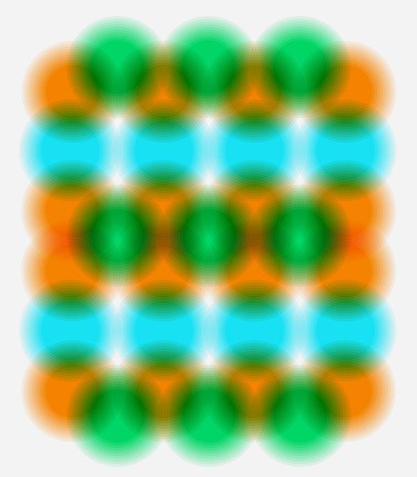 Russian Tennis Academy #pattern #orange #circles #blue #green