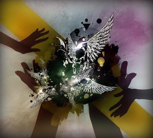 Loic SATTLER - [LSD]Lysergid #abstract #skull #feathers