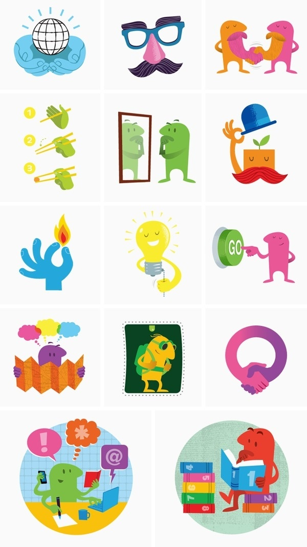 Spike Press #bright #color #texture #illustration #vintage #characters