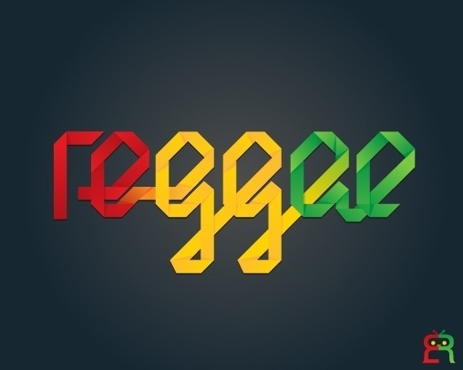 Illustrations | Arts | Etc on the Behance Network #red #typography #yellow #reggae #green