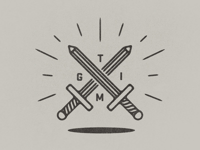 Thank God It's Monday #illustration #swords #line #work