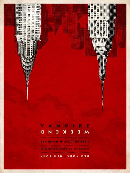 GigPosters.com Vampire Weekend Sam Rosen Beat The Devil #poster