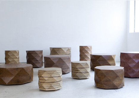 Tesler-Mendelovitch Diamond Woods #wood #indistrial #stool