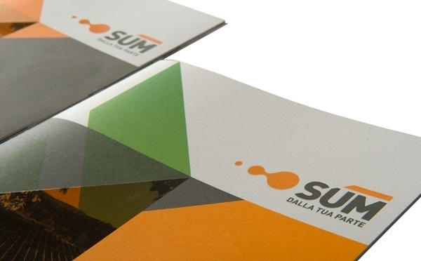 Artwork by www.o-zone.it #energy #annual report #orange #business #company profile #two colors