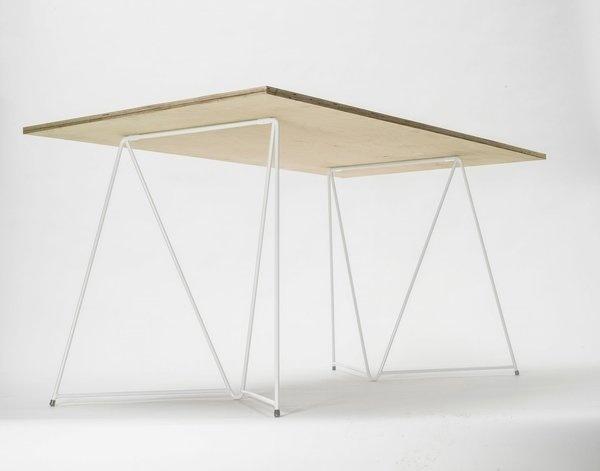 White Table Trestle by Master&Master #minimalist #furniture #table #minimal