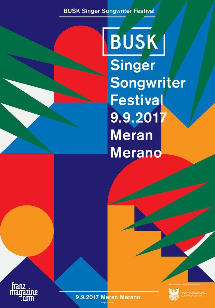 Busk Music Festival 2017 poster. Design: Studio Mut