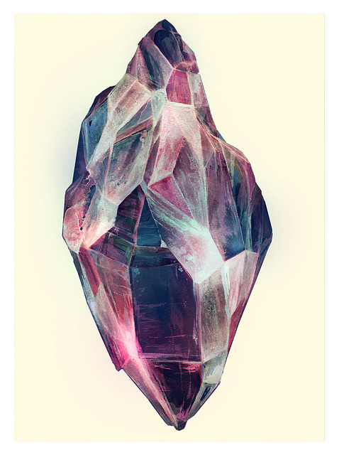 Eibatova Karina | Mineral #crystal #mineral #watercolor #facet #watercolour