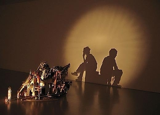 Shadow Art Created From Junk | Environmental Graffiti #sculpture #pile #art #garbage #shadow
