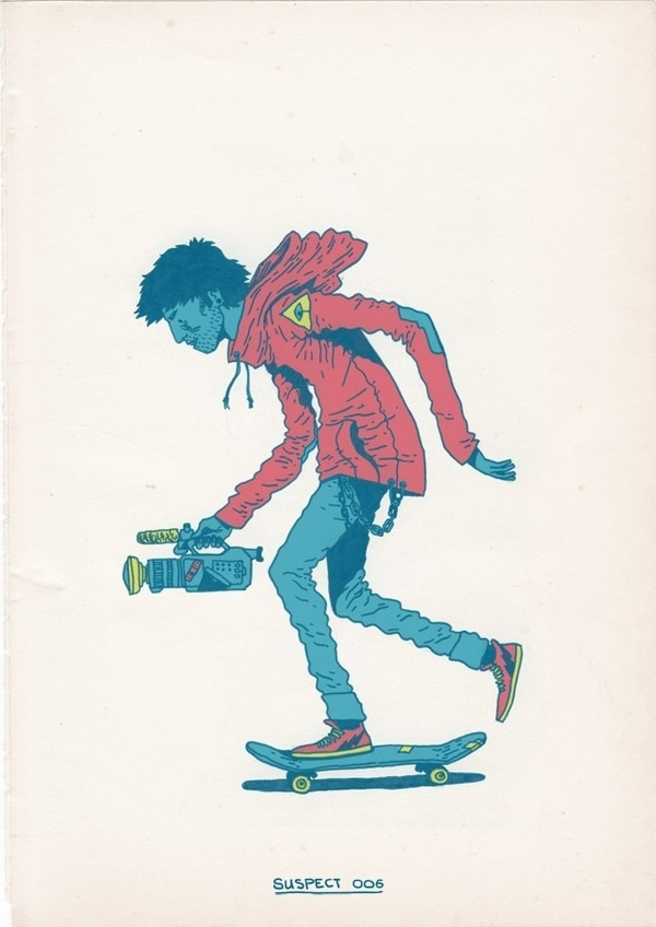 Skateboarding is a Crime on the Behance Network #illustration #skateboarding