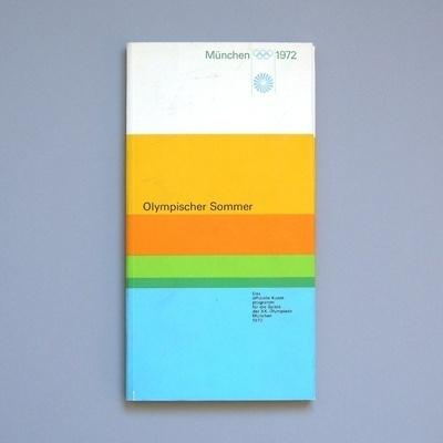 Olympic Summer - Otl Aicher #otl #design #graphic #cover #1972 #aicher #olympics #munich