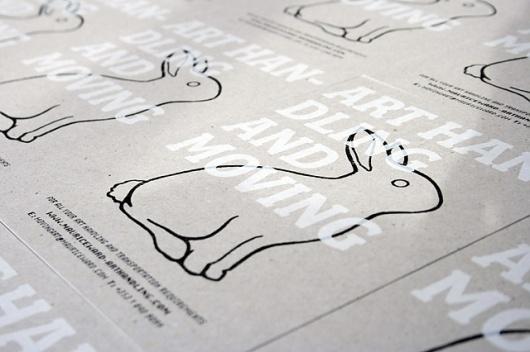 Red and Grey Design - Work #dublin #red #card #print #design #desi #rabbit