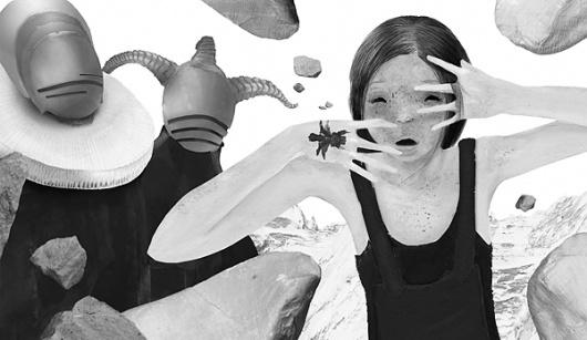 Jonas Till Hoffmann - Moresby and nurse (JPEG Image, 600×348 pixels) #antlers #hoffmann #stone #jonas #illustration #tattoo #horn #medieval #till #surreal #moresby