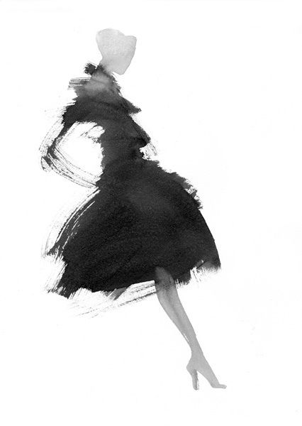 best foot forward #white #woman #black #illustration #and #fashion