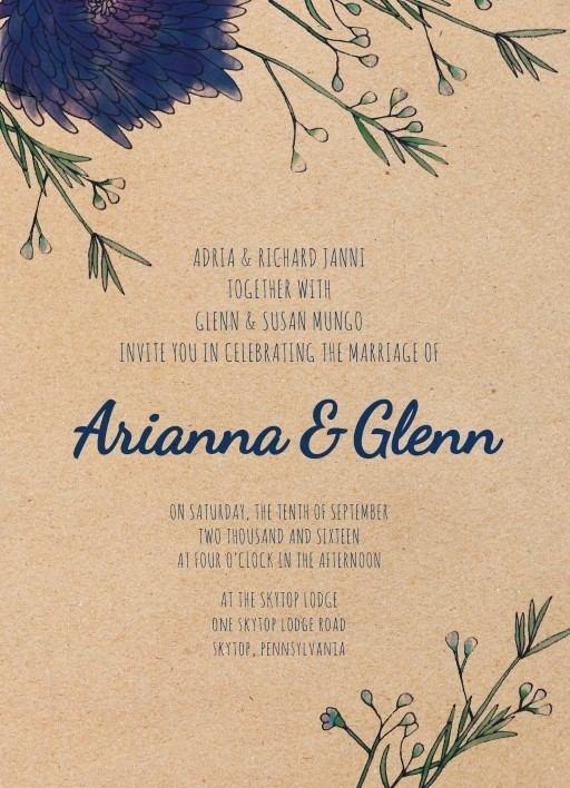 Rustic Mason Jar Flowers - Wedding Invitations #paperlust #weddinginvitation #weddinginspiration #cards #paper #design #digitalcard
