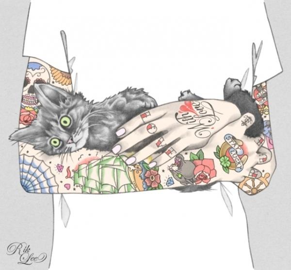 Tattoo Illustrations by Rik Lee #tattoo #lee #illustrations #rik