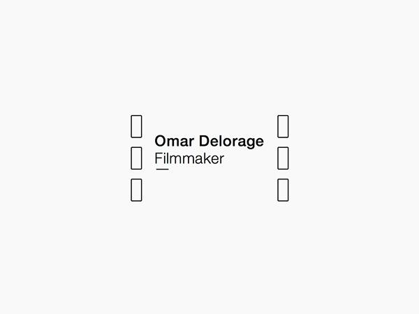 Logo for Omar delorage #logotype #vector #black #cine #cinema #identity #film #logo
