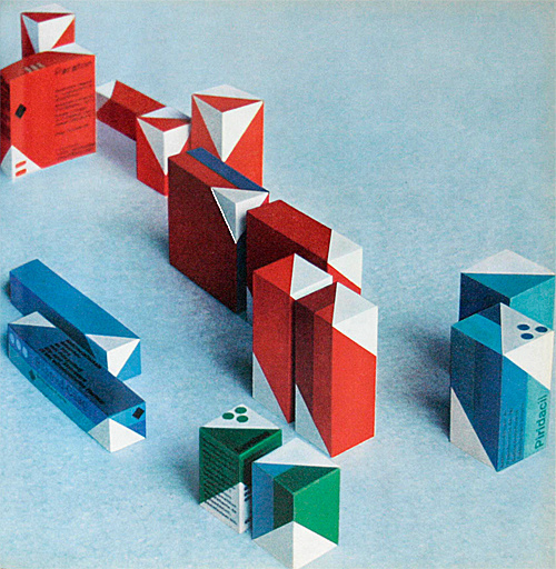Design in the Chemical Industry by Hans Neuburg, 1967 (ABC Verlag) (via insect54) #packaging #geometric