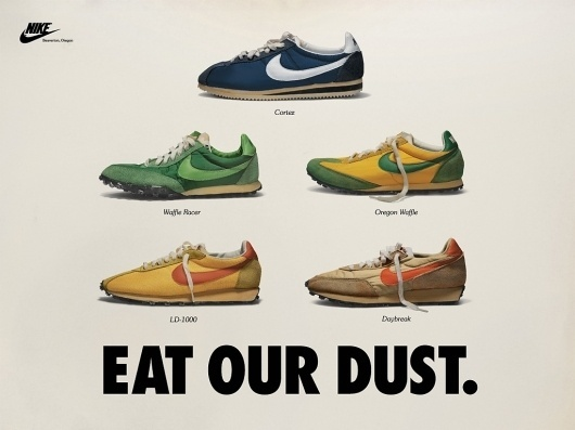 01_eat_our_dust_1024.jpg (1024×768) #graphic design #typography #advertising #nike