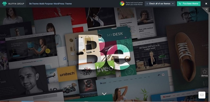 """Let your site be what you want it to be with """"Be"""" wordpress theme."""