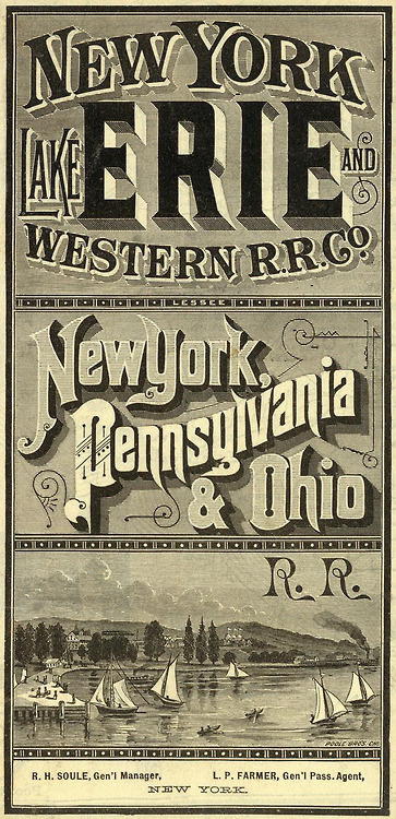 via David Rumsey Map Collection #ornate #map #vintage #type #typography