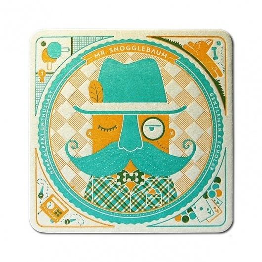 Mr. Snogglebaum Coaster - Front | Flickr - Photo Sharing! #pressman #illustration #letterpress #cranky